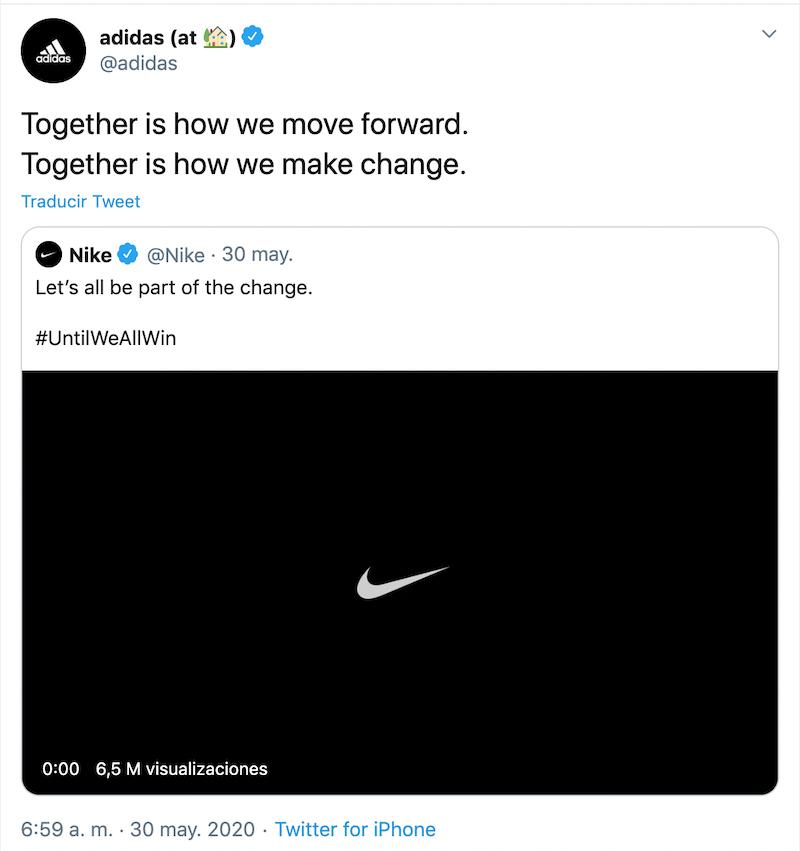 Nike y adidas unen fuerzas contra la injusticia