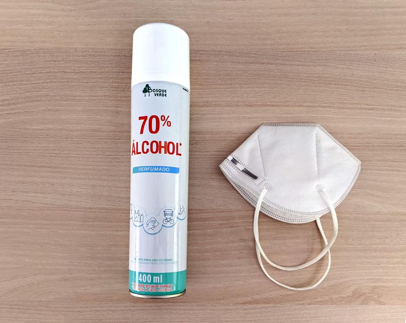 El spray de Mercadona de alcohol 70% y las mascarillas