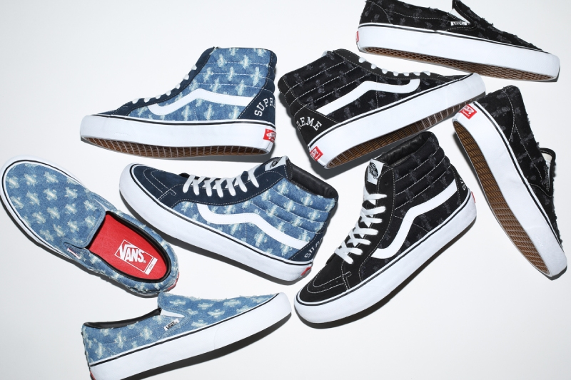 El Distressed Denim Pack de Supreme x Vans