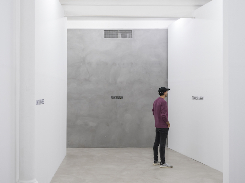 'sin imagen' de Ignasi Aballí en Blueprojects Foundation
