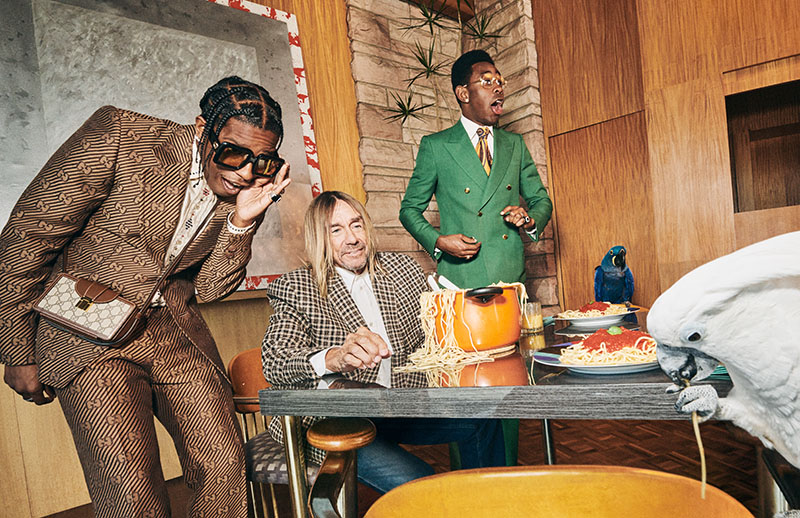 Iggy Pop, ASAP Rocky y Tyler, The Creator: Gucci Tailoring