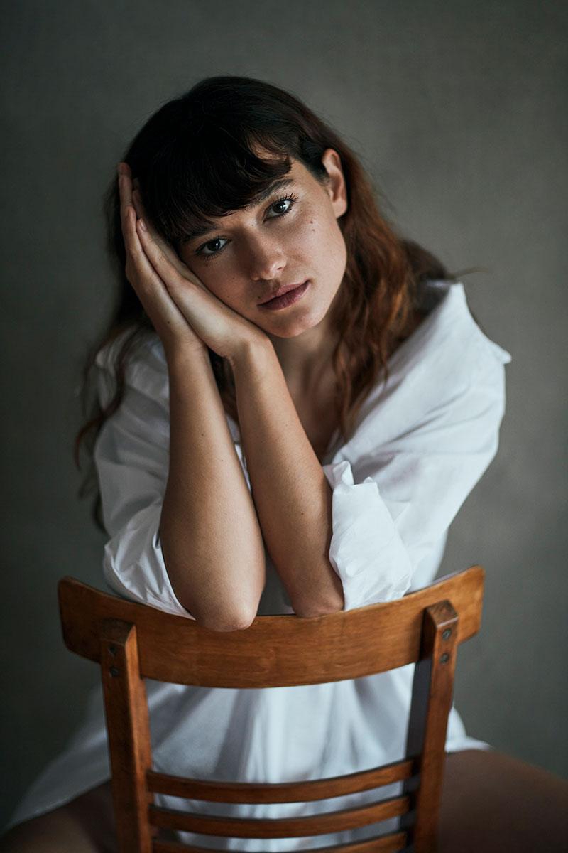 Andrea Tivadar en el casting de JVV.