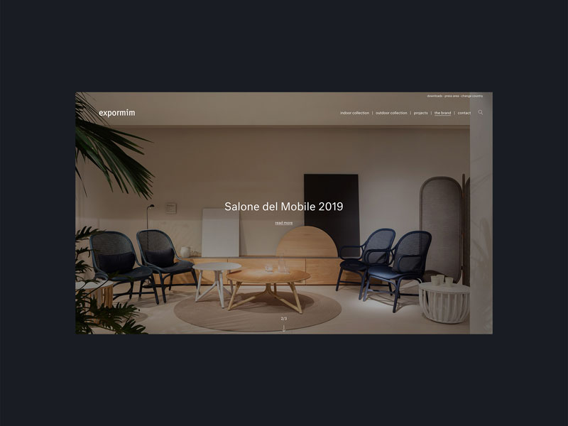 La web de Expormim, premiada en los German Design Awards