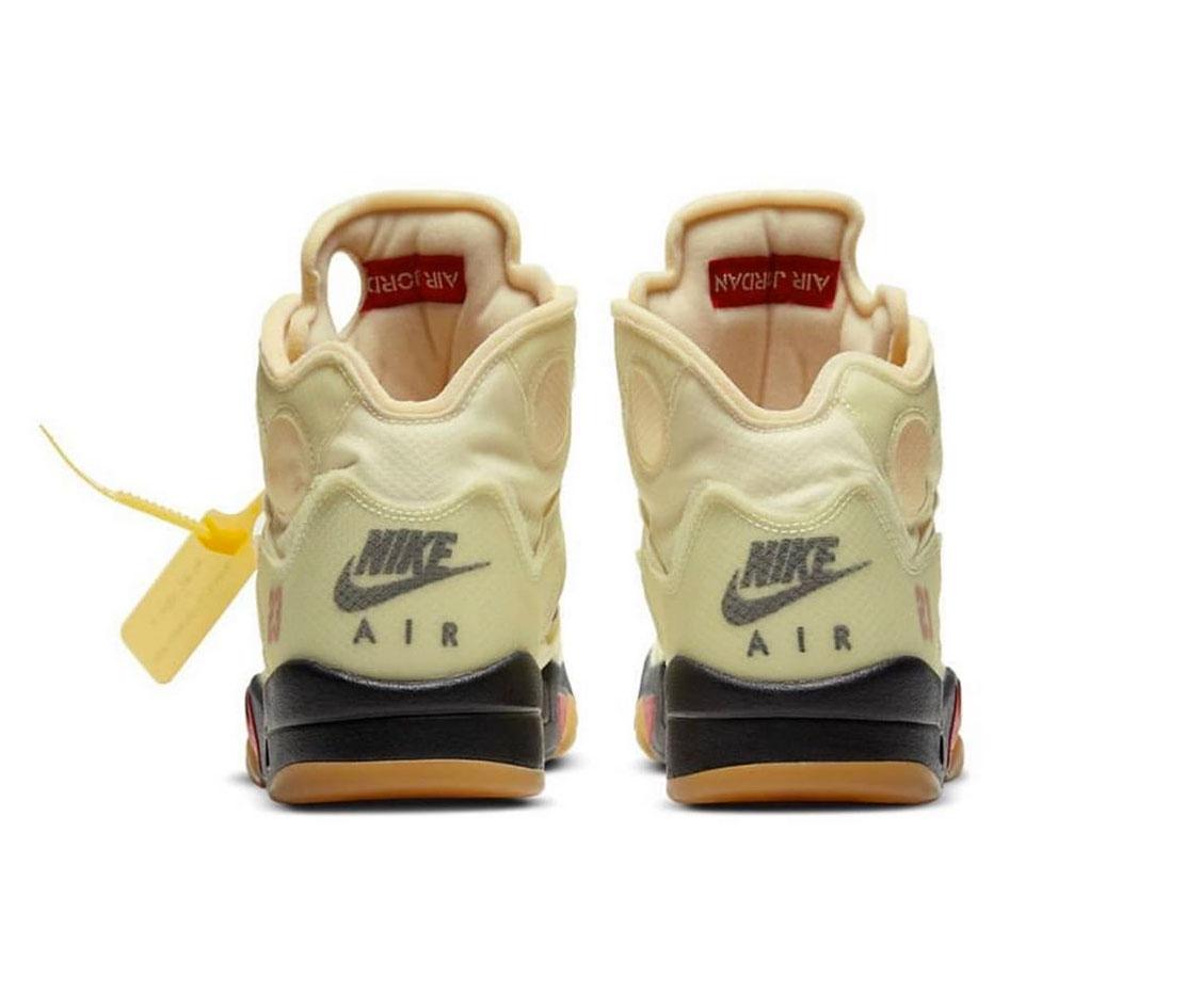 """La nueva versión de Off-White x Air Jordan 5 """"Sail"""""""