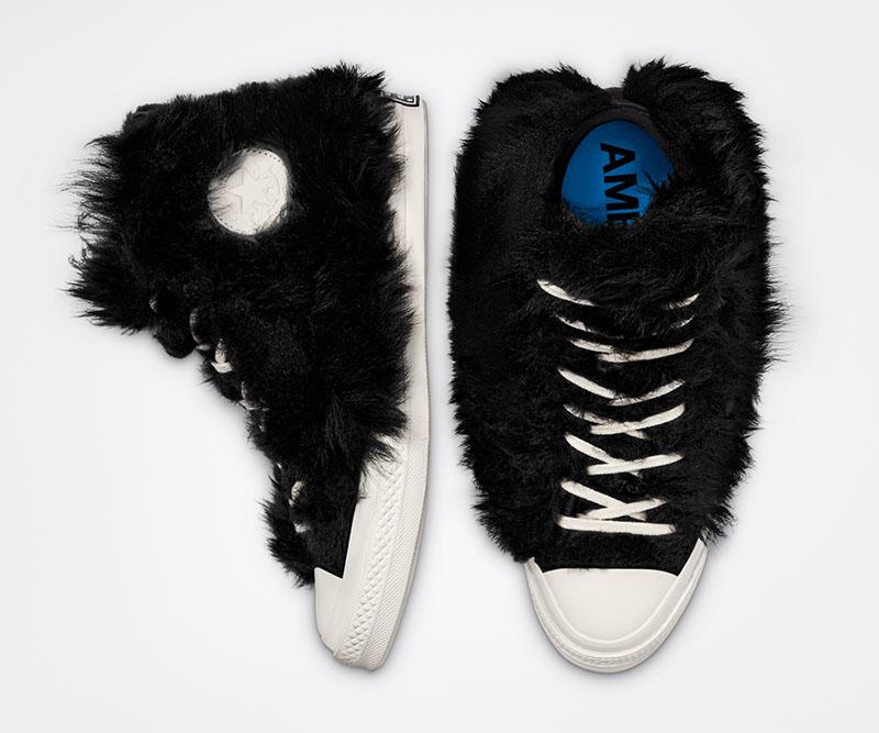 Las sneakers peludas de Converse x Ambush