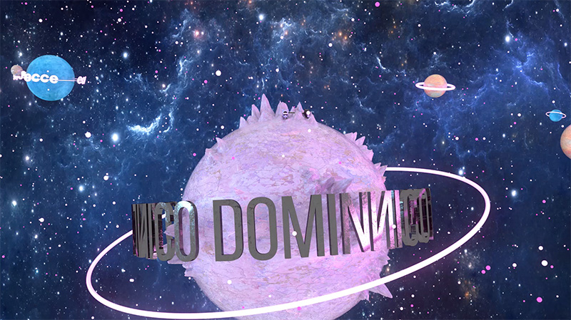 El viaje espacial 3D de Dominnico