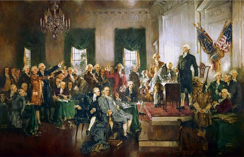 Renee Cox recrea la firma de la Constitución de EEUU