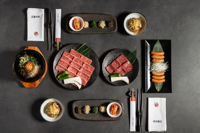 Menú de Navidad Yakiniku Rikyu: carne en parrilla japonesa