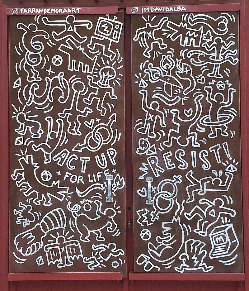 Keith Haring y las Hermanas Gilda llegan a Lavapiés