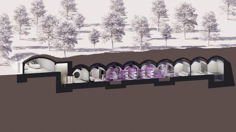 Construcción de un búnker de lujo por el estudio Abiboo