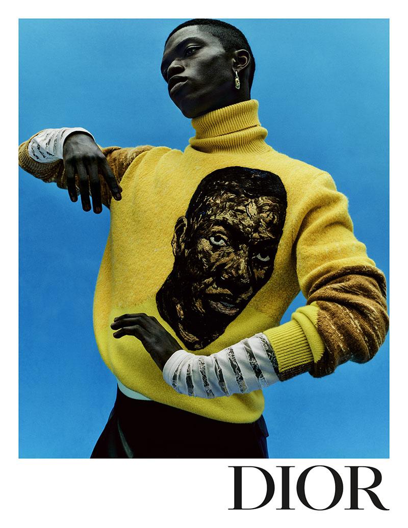 Amoako Boafo en la nueva campaña de Dior Men's Summer 2021