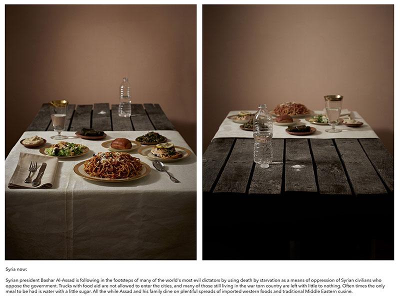 Henry Hargreaves, foto conceptual de menús apocalípticos