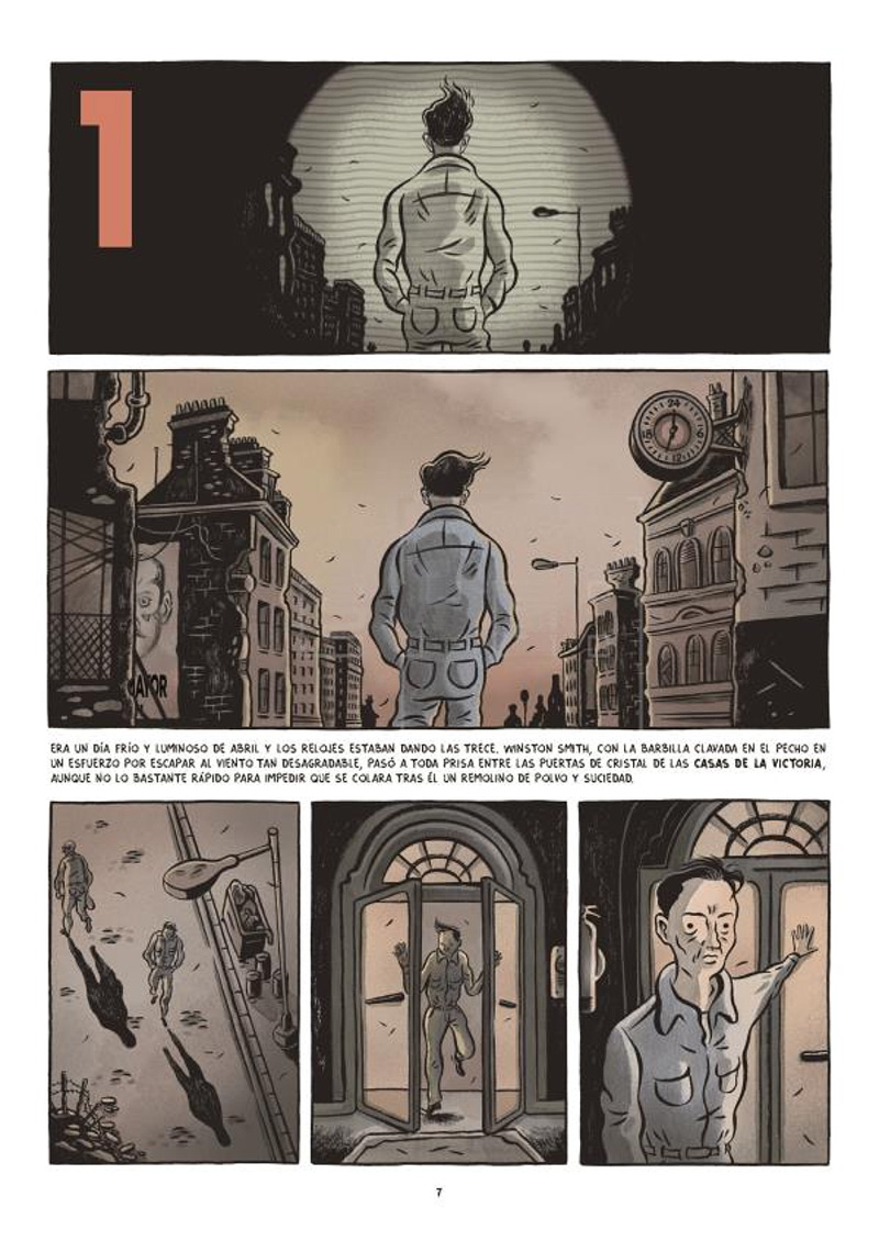 Fido Nesti adapta la distópica novela '1984' al cómic