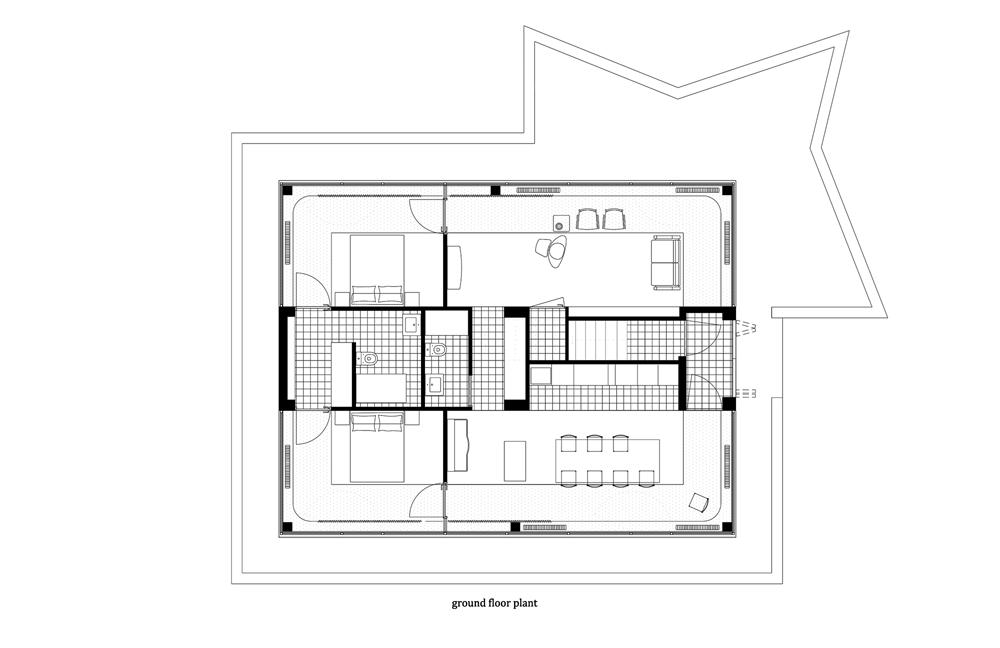 Azab arquitectos: funcionalidad y personalidad en Re House