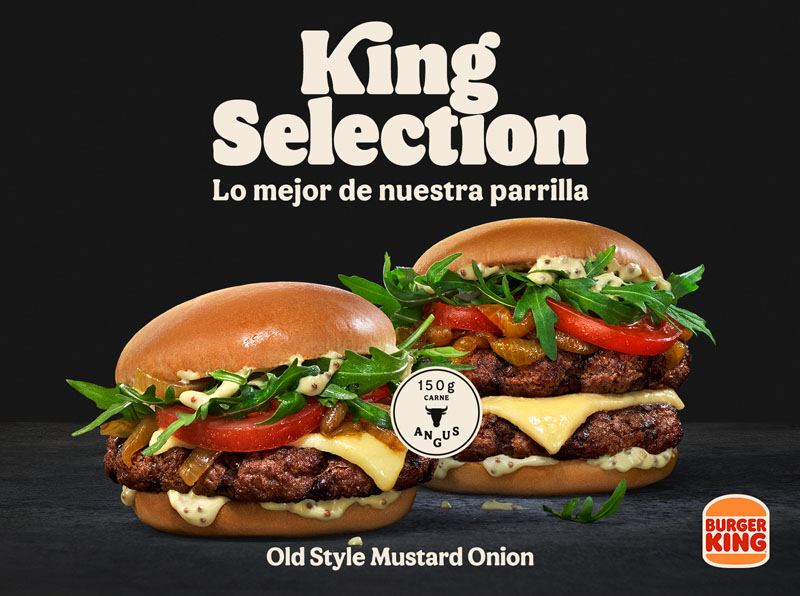 King Selection Old Style Mustard Onion de Burger King
