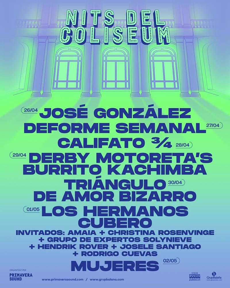 Nits del Coliseum el nuevo ciclo de conciertos en Barcelona