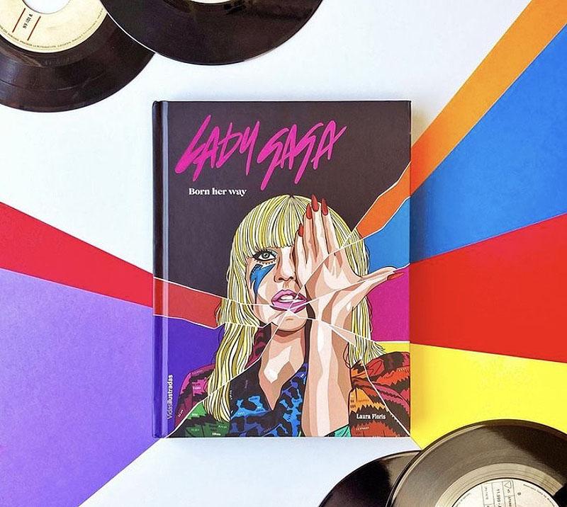 Laura Floris ilustra la biografía de Lady Gaga