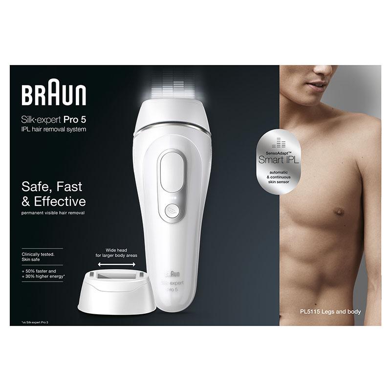 La primera depiladora de luz pulsada masculina de Braun