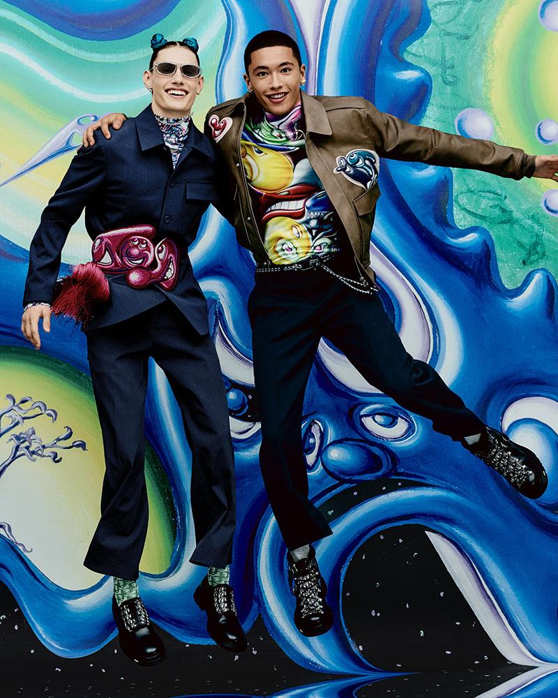 La obra de Kenny Scharf en la campaña de Dior Men's Fall21