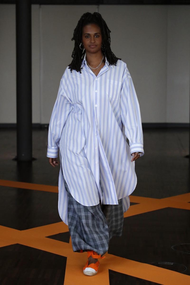 Lr3 en 080 Barcelona Fashion: juego de telas y colores