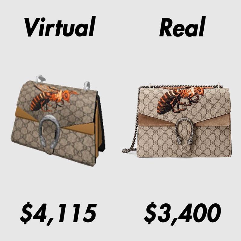 El bolso virtual de Gucci que vale más que el real