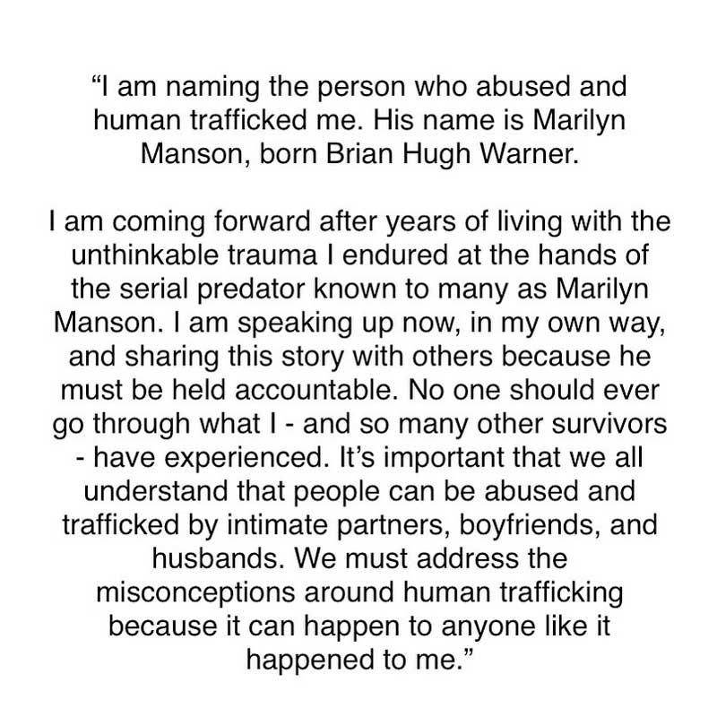 Marilyn Manson y la actriz de Juego de Tronos Esmé Bianco