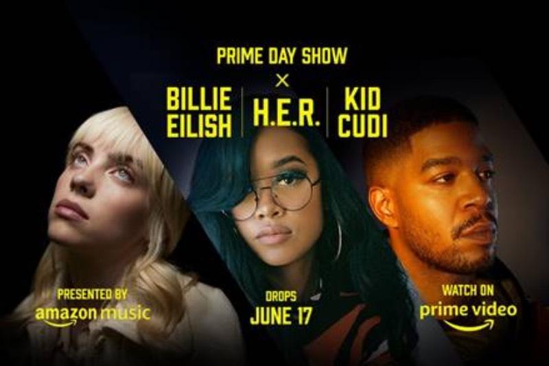 Prime Day Show con Billie Eillish, H.E.R y Kid Cudi
