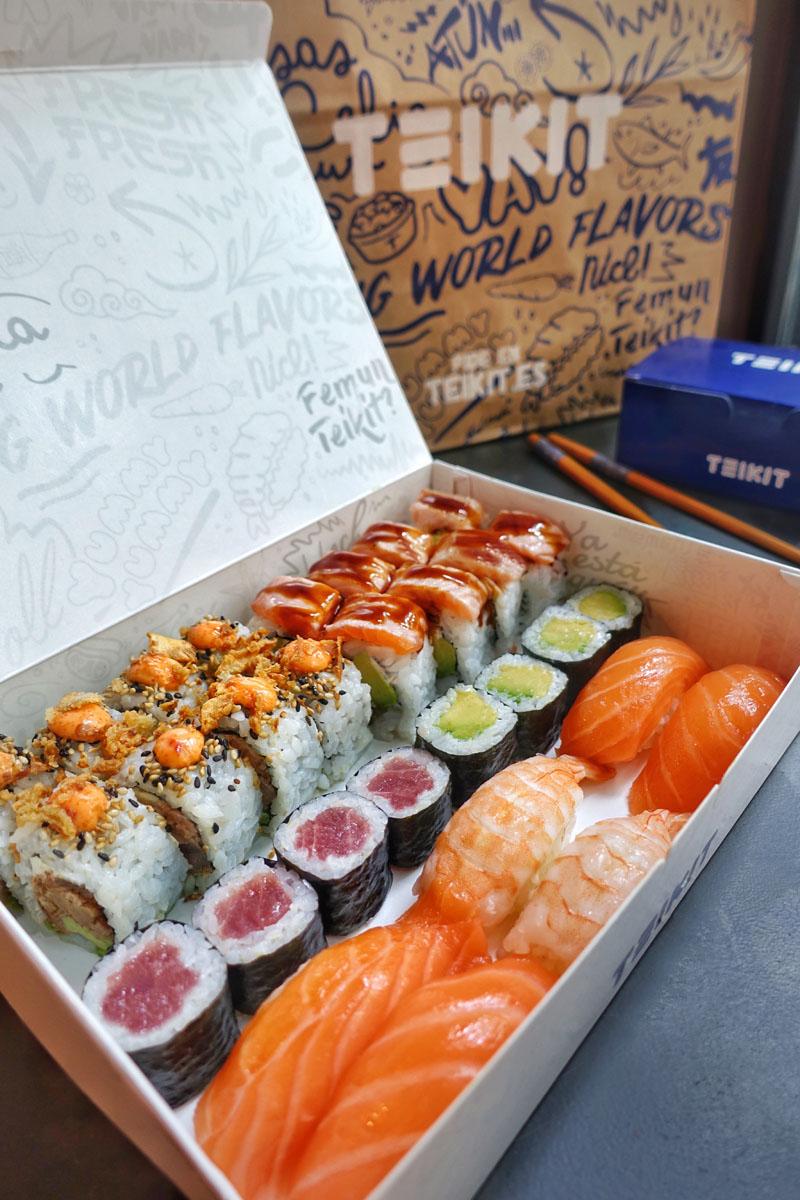 Teikit en Madrid: delivery democrático de sushi creativo