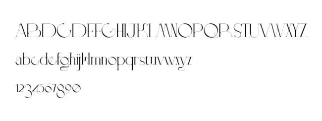 Tipografía gratuita Doppelganger: una fuente muy estilizada