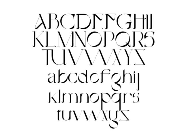 Tipografía gratuita Otto Attack: una fuente ornamental