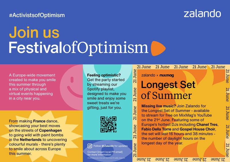 Zalando y su Festival of Optimism 2021 para toda Europa