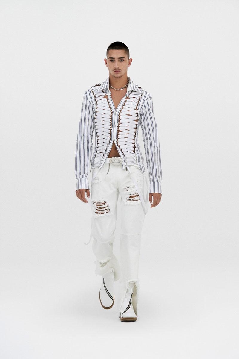 GmbH SS22 en Paris Fashion Week: White Noise