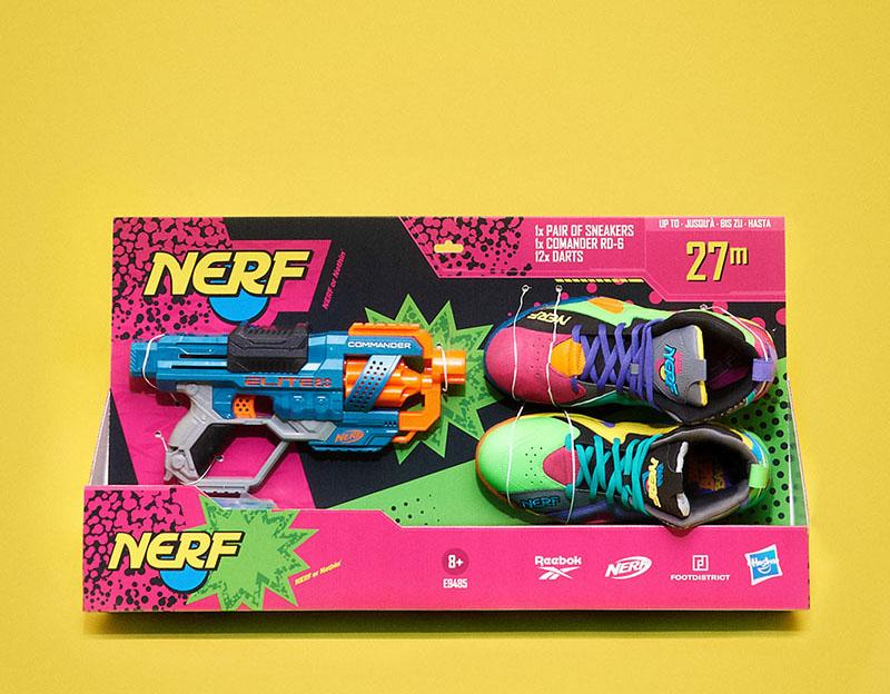 Reebok x Nerf: La colaboración más jugona