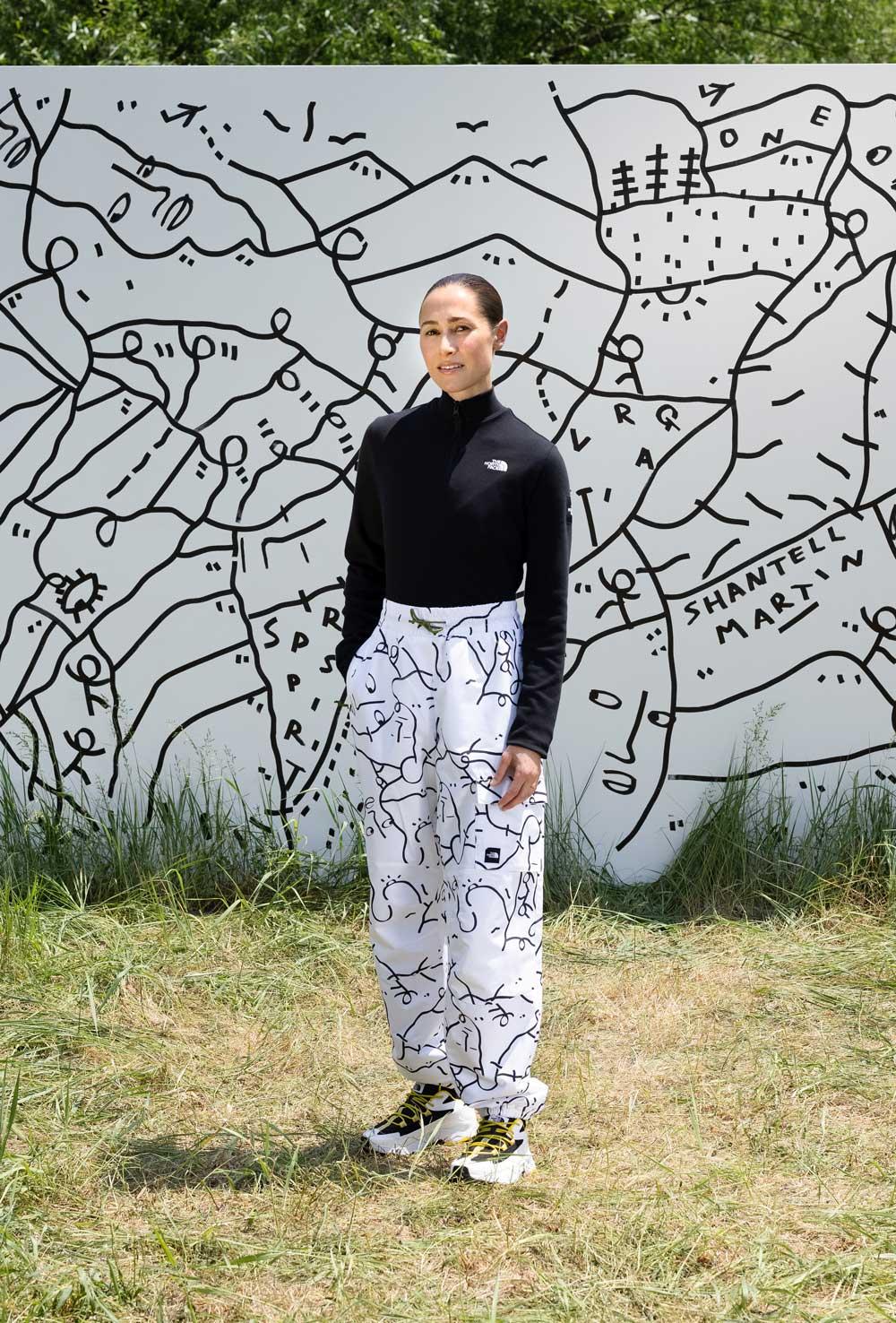 El arte de Shantell Martin en The North Face