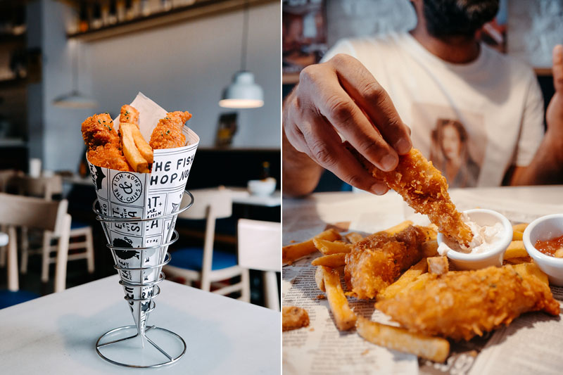 El mejor fish and chips en Madrid: The Fish and Chips Shop