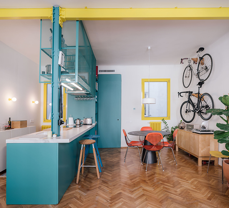 Impepinable Studio y su apartamento con playful design