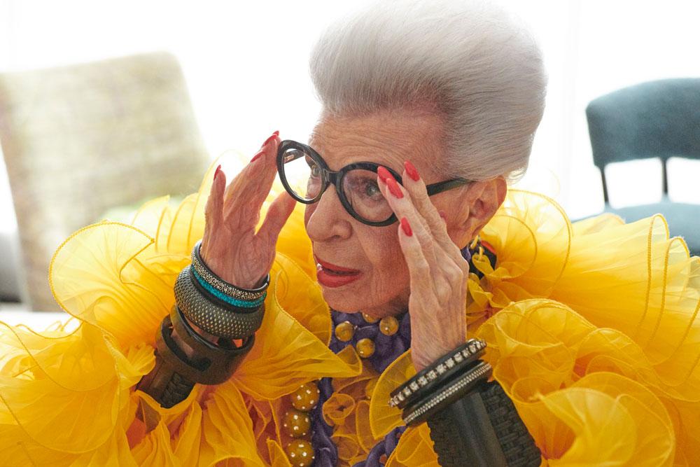 Iris Apfel celebra con H&M su 100 cumpleaños