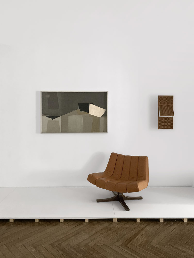 Formas industriales en la Galería José de la Mano en Madrid