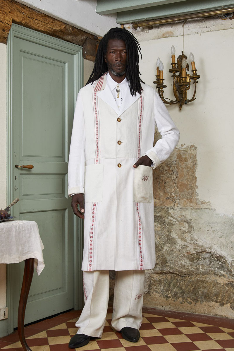 Marine Serre SS22 en Paris Fashion Week: Fichu pour Fichu