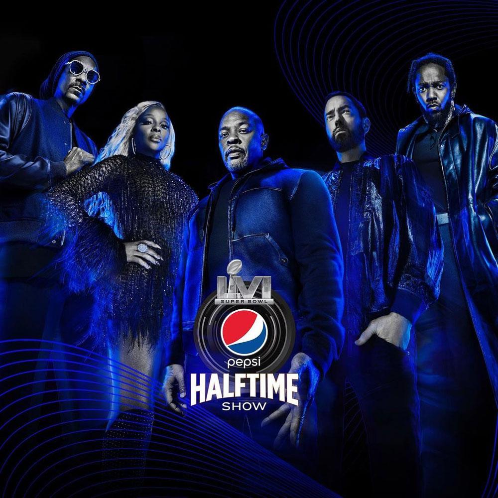 Eminem, Kendrick Lamar, Dr. Dre, Snoop Dpgg y la Super Bowl