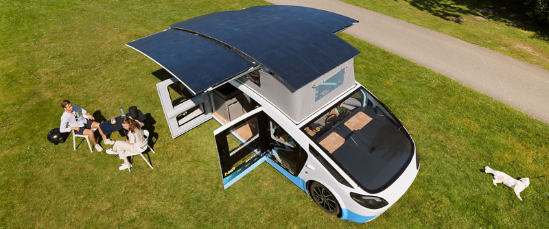 El primer coche-vivienda con energía solar llega a Madrid