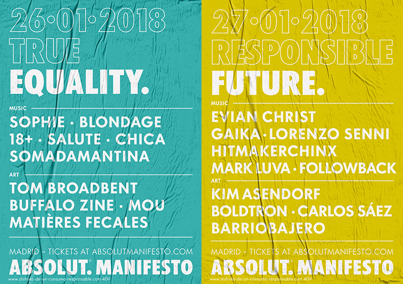 Absolut Manifesto: 3 Noches, 3 Fiestas, Un Mañana