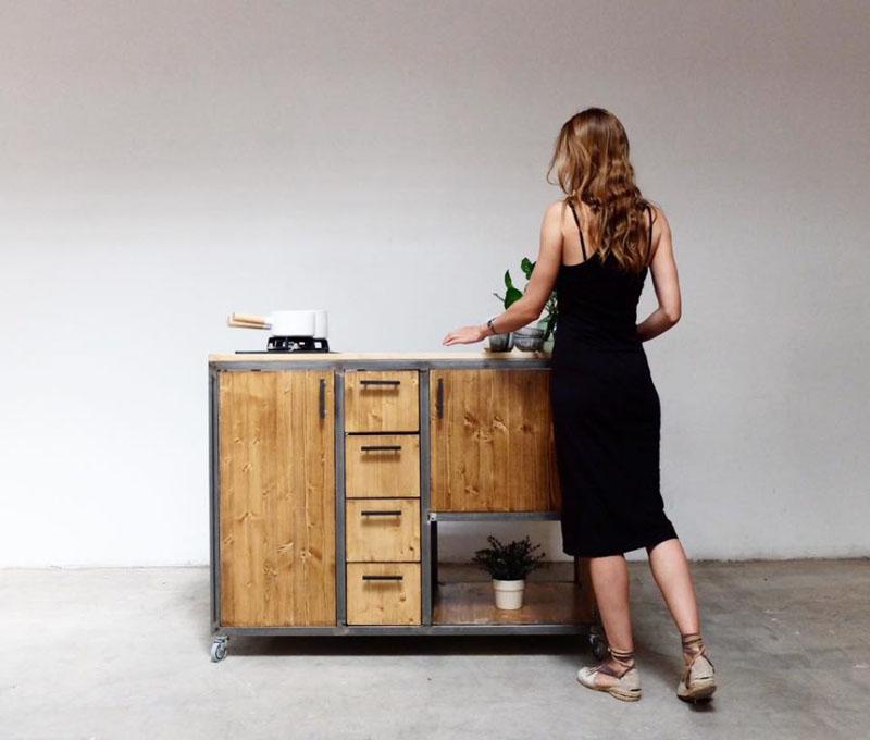 cocina de madera de Aina Sanfeliu
