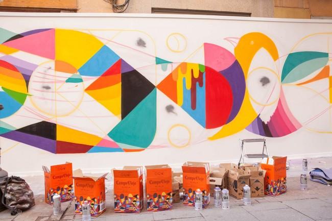 El arte urbano y el vino