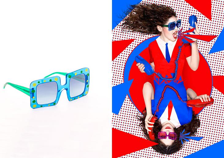 Cósima y sus gafas para Ágatha Ruiz de la Prada
