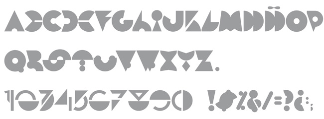 Tipografía Die Modularitat