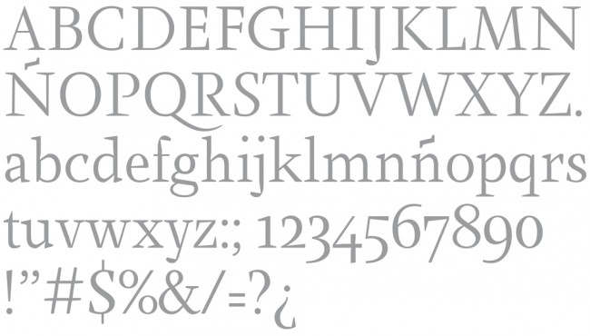 Tipografía Farrerons Serif