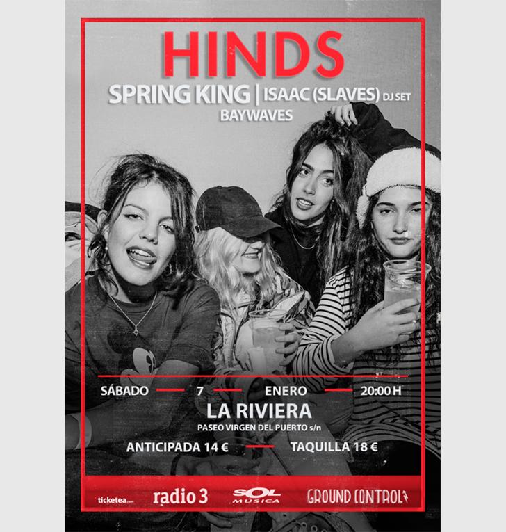 Concierto cierre de gira de Hinds en Madrid