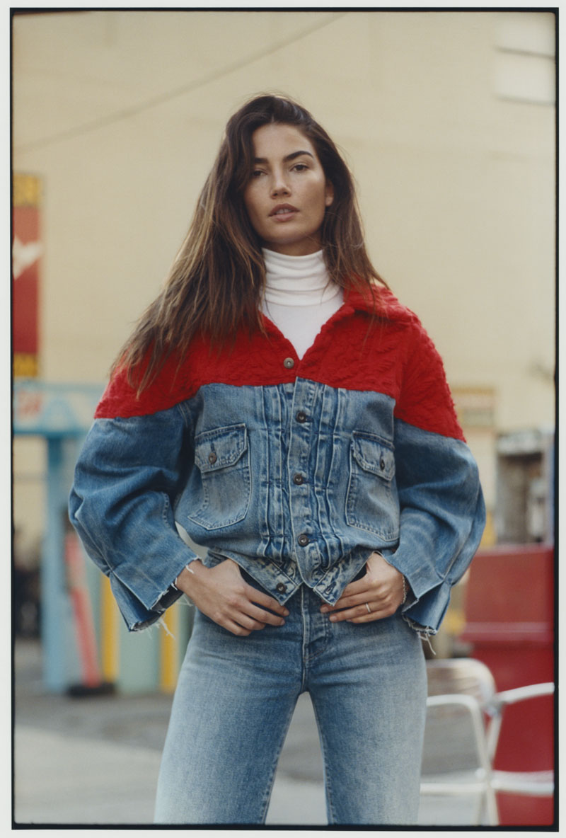 Lily Aldridge para Levi's Made and Crafted FW18