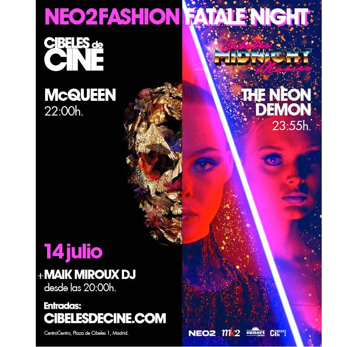 Neo2-Fashion-Fatal-Night-cartel Neo2 Fashion Fatal Night en Cibeles de Cine